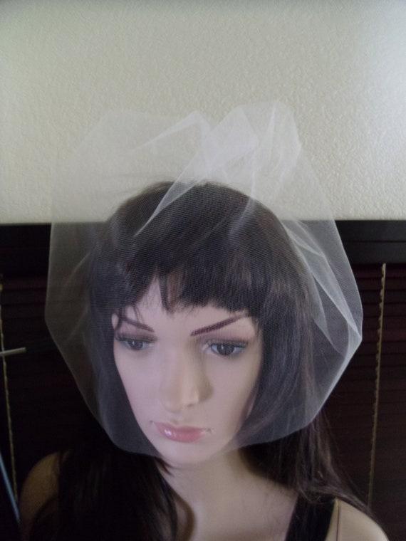 Tulle Birdcage Bubble Style 16 inch long Bridal Veil