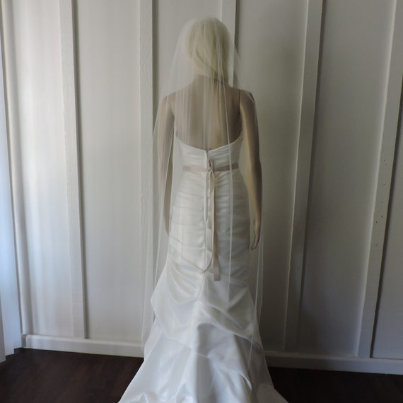 Waltz Sheer Wedding Veil Bridal Veil Illusion Soft Tulle