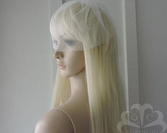 Irina Soft English Net Birdcage Style Veil 9 inch Long