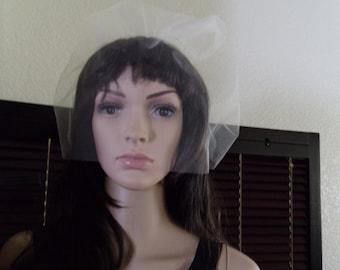 Tulle Birdacage Bubble Style 14 inch long READY MADE Bridal Veil, Wedding Veil