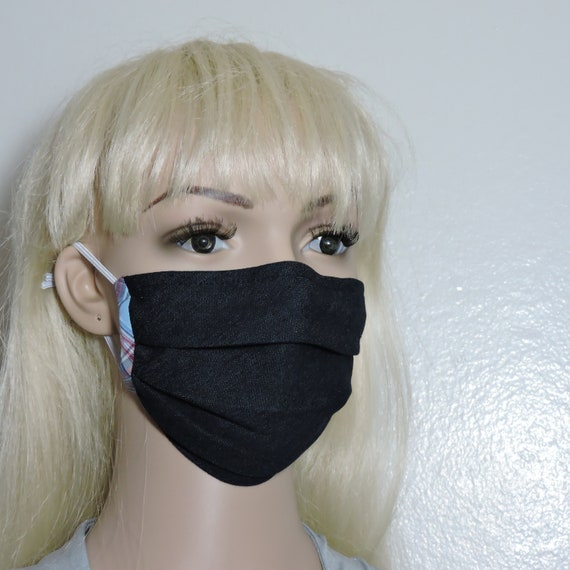 Double Layer Fabric Face Mask Ties and Nose Wire-Denim Fast Shipping