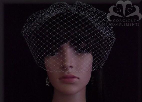 "Russian Veiling Bridal Birdcage 14"", Bridal Veil"