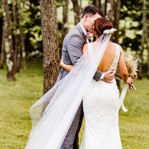 Twitlight Veil with Decorative Comb Bridal Wedding Veil