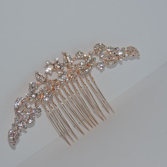 Rhinestone Bridal Comb,Gold, Rose Gold or Silver