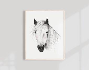 Wild Horse Art Print - 8X10, 11X14