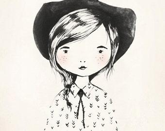 Cowgirl - 8X10, 11X14 Art Print