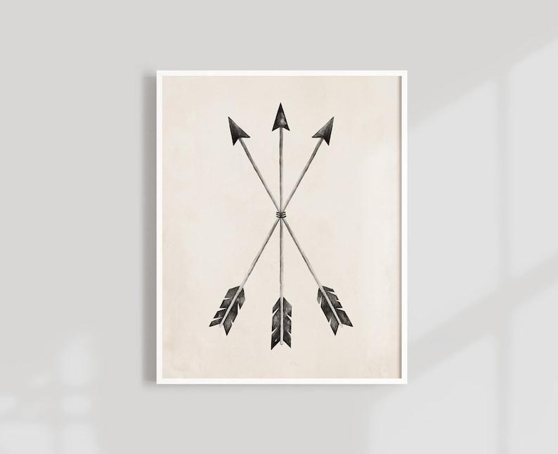Arrows Art Print  8X10 11X14 image 0