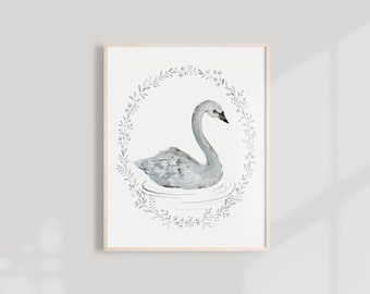 Swan Art Print - 11x14, 8X10