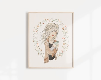 Mothers Love Art Print - 11x14