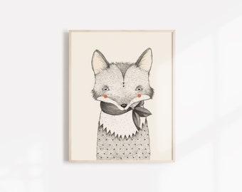 Fox Art Print - 8X10, 11X14