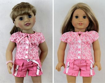 Joy Shorts and Blouse - Doll clothing to fit 20 and 18 inch dolls such as Australian Girl, American Girl Dolls and similar J14