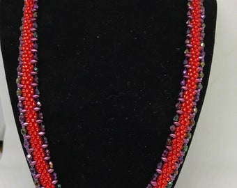 A Little Red Bling Necklace