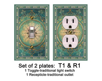 0328X SET of TWO Asian Mandela Single Plates ~CHOOSE~ Mrs Butler Unique Switchplate Covers ~ Use Drop Down Boxes ~See 0328X All Plate Styles