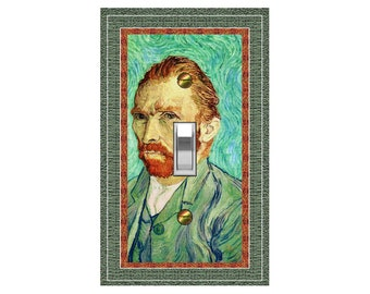 1753X Image of Vincent Van Gogh Self Portrait ~ Mrs Butler Unique Switchplate Cover ~ Use Drop Down Boxes Below ~ See Other Van Gogh Works