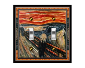 1481X Edvard Munch, The Scream, Colorful Iconic Painting ~ Mrs Butler Unique Switchplate Cover ~ Use Drop Down Box Below ~See Many Art Works