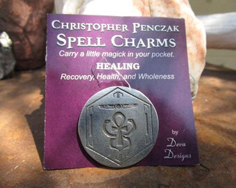 Christopher Penczak Spell Charm~Healing~Pocket Charm~Spell Supply~Fine Lead Free Pewter~Recovery, Health, Wholeness