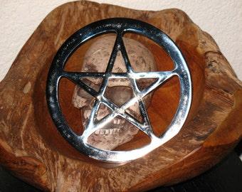 Pentacle Altar tile~Chrome~Large~Ritual Supply