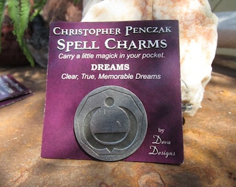 Christopher Penczak Spell Charm~Dreams~Pocket Charm~Spell Supply~Fine Lead Free Pewter~Clear, True, Memorable Dreams