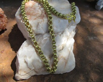 Bronze Chain Maille Chain~Triple Ring Links~Hand Made Chain~Heavy Duty