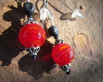 Jablonex Czech Glass and Lamp Worked Glass Earrings~Fortune Teller~For Pierced Ears~Set #8