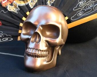 ON SALE!~Bronze Altar Skull Statue for Ancestor Altar