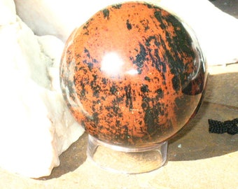 Mahogany Obsidian Sphere~Scrying~Divination~Magickal Home Decor #8
