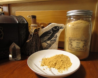 Ginger Root Powder~Associated With Fire~Herbal Magic~Herb Magick~Kitchen Witch