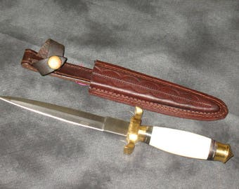 Bone Handled Ritual Athame~Ritual Tool~Double Edged Blade~Supply
