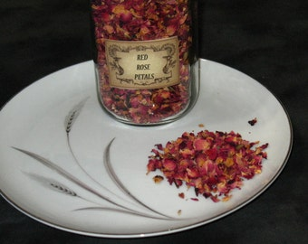 Red Rose Petals~Herb~Love~Beauty~Heart~Magick~Spells~Apothecary~Herb Magic