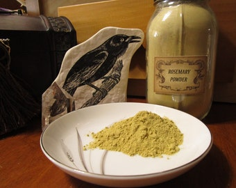 Rosemary Powder~Associated With Aphrodite~Element of Fire~Zodiac, Leo~Incense Supply~Herb Magic