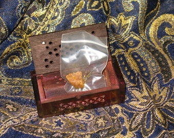 Premium Dark Amber Resin in Vented Box~Incense~Perfume~Ritual Supply
