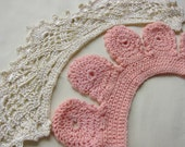 French handmade collar 2 two child unusual, vintage dressmaking, christening dress, vintage lace trim, vintage sewing