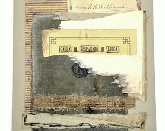 Mixed Media Collage * OOAK * original collage * deconstructed book * paper collage * art