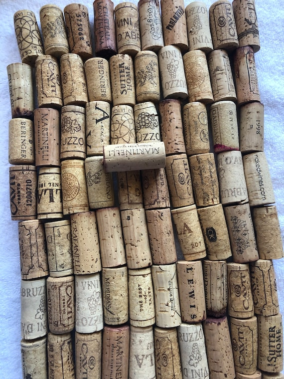 100 Used Wine Corks Natural, No Synthetics Crafts, Fishing