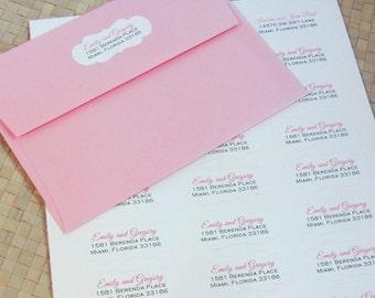 Elegant Address Labels, Decorative Labels, Wedding Address Labels, Return Address Labels