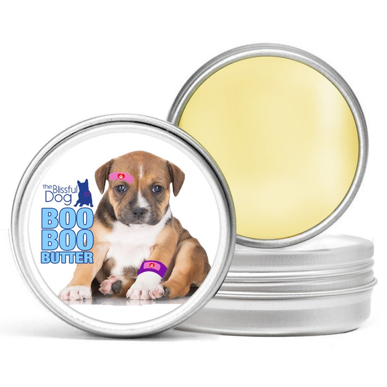 Pit Bull Staffordshire Bull Terrier Essential Care Combo for Dry Noses,  Rough Paws, Elbow Calluses and Skin Issues with Pit Bull Labels