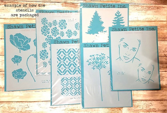 crafting journaling stenciling kids painting shawn petite Messy Flower Silhouette 2 8x10 stencil art journaling baking
