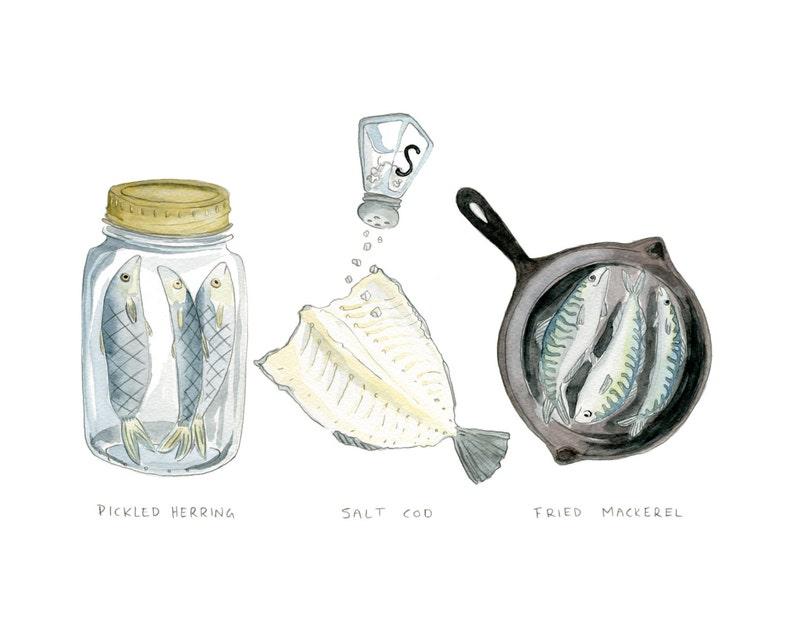 Cooking Fish Trilogy  Pickled Herring Salt Cod Fried image 0