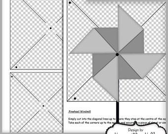 Printable Pinwheel Etsy