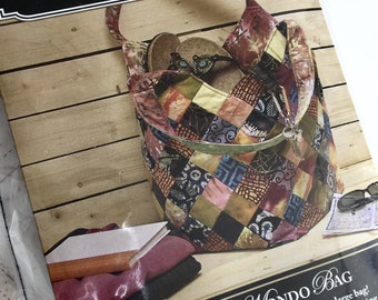 Quiltsmart MONDO BAG Kit, Mondo Kit, Large Bag Kit, Quilted Tote Bag Pattern and Kit