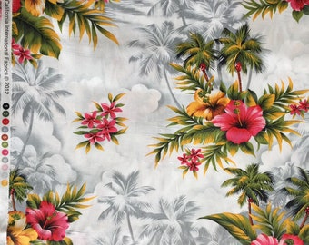 SALE + Half Price Postage! Robert Hoffman CA international Hibiscus Fabric, Hawaii, Pattern RPG15840, Hibiscus Fabric, Tropical Fabric