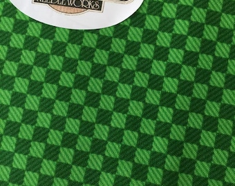 SALE Green Tone-on-Tone Cotton Fabric, Green Quilting Cotton, Green Check Fabric