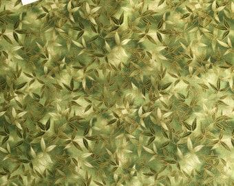 SALE + 1/2 Price Postage (2 yards or more) Kaufman Imperial Fusions Kyoto (#10829) Leaf Print Fabric, Leaf Print Fabric, Oriental Leaf Fabri