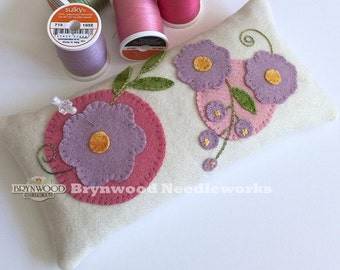 Brynwood Woolen Pincushion, Flowers Go Round Wool Pincushion, Wool Floral Pincushion