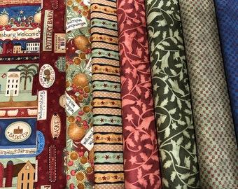 Williamsburg Welcome fabric, Teresa Kogut for SSI, South Seas Import Fabric, RARE