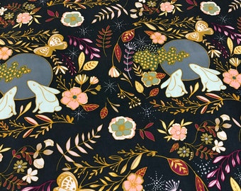 Nightfall Fabrics, Maureen Cracknell, Art Gallery Fabrics, Butterfly Fabric, Rabbits, Bunnies, Owls