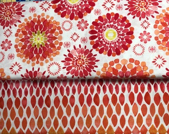 Island Breeze Fabric, Lauren McMullen, P & B Textiles, Modern Floral Abstract Fabric Prints