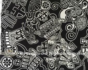 SALE Mi Familia Cotton Fabric, Andover Skull Fabric, Mi Familia Skull Fabric