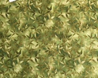 Kaufman Imperial Fusions Kyoto (#10829) Leaf Print Fabric, Leaf Print Fabric, Oriental Leaf Fabric, Oriental Fabric