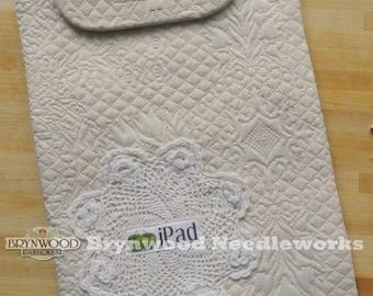 Vintage Crochet Lace iPad Case II